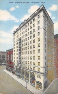 Cincinnati Ohio~Hotel Fountain Square on 5th & Vine Streets~c1910 Postcard