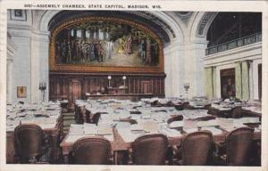 Wisconsin Madison State Capitol Building Assembly CHamber 1924