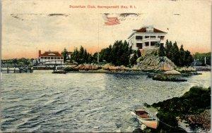 SQUANTUM CLUB - Narragansett Bay RI - RHODE ISLAND VINTAGE - POSTCARD