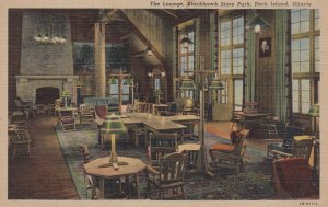ROCK ISLAND , Illinois , 1930-40s ; The Lounge , Blackhawk State Park