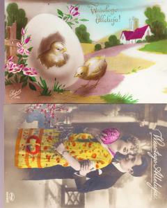 Two Older Polish Easter Cards