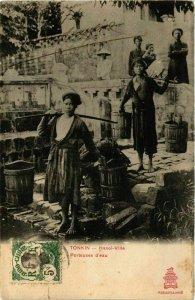 CPA AK Tonkin Hanoi Ville, Porteuses d'eau VIETNAM-INDOCHINA (840312)