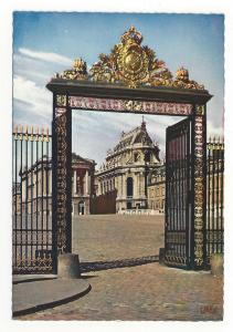France Versailles Palace Gate of Honor La Grille d'Honneur Vtg 4X6 Postcard