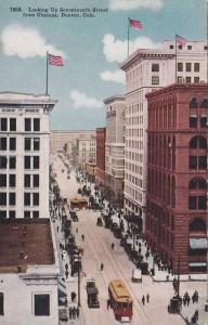 Looking Up Seventeenth Street, From Champa, Denver, Colorado, 1900-1910s