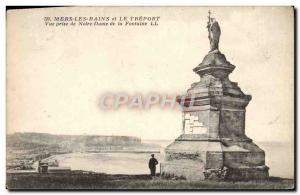 Old Postcard Mers Les Bains and Le Treport View from Our Lady of the Fountain