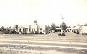 RPPC UNZELMAN'S AUTO COURT Santa Rosa, CA Roadside Motel c1930s Vintage Postcard