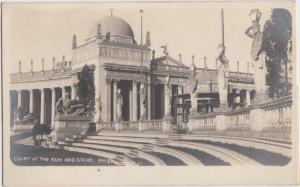 '15 California Postcard Panama–Pacific International Exposition RPPC SUN & STARS