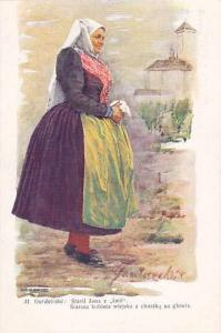 Czech Republic : Portrait village woman , 00-10s