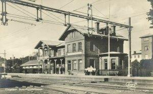 sweden, VINGÅKER, Järnvägsstationen, Station (1934) RPPC Postcard