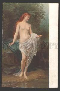 111589 NUDE Nymph BELLE near Brook by LIPHART vintage SALON PC