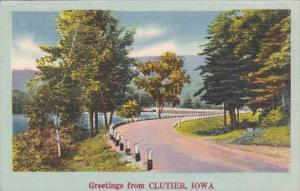 Iowa Greetings From Clutier 1951