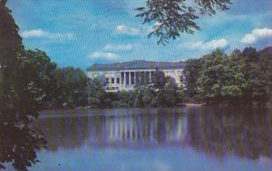 New York Buffalo The Historical Building And Lake Delaware Park 1953