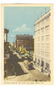 8th Avenue, looking West from 1st Street West, Street Car, Calgary, Alberta, ...