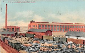 F27/ Pocatello Idaho Postcard O.S.L. Railroad Shops Factory