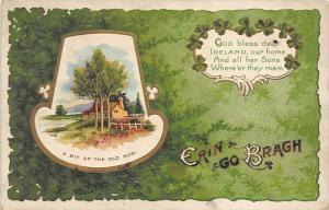Artist Ellen Clapsaddle Saint Patrick's Day Post Card writing on back