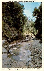 New York Watkins Glen Gorge At Upper Entrance Dexter Press