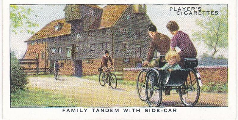 Cigarette Cards Players CYCLING No 40 Family Tandem with Side-Car