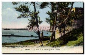 Old Postcard Brest Les Bords De La Rade the Pied du Chateau