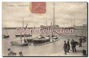 Old Postcard Le Havre Entree Du Port