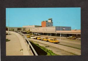 OH Admin Bldg Cleveland Hopkins International Airport Taxi Airplane Postcard