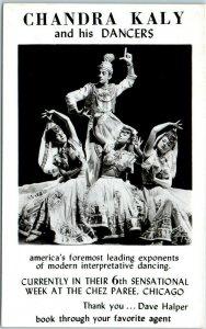Chicago Postcard CHEZ PAREE RESTAURANT CHANDRA KALY & His Dancers 1950 Cancel
