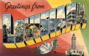 Louisiana, USA Large Letter States Postcard Postcards  Louisiana, USA