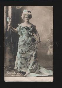 076799 KUZNETSOVA-BENOIS Rus OPERA Star Vintage PHOTO Tinted