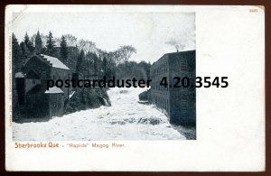 3545 - SHERBROOKE Quebec 1900s Magog River Rapids by Fraser's Drugstore