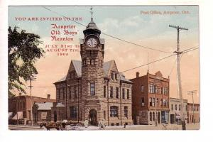 Invitation to Arnprior Old Boys Reunion, 1909. Post Office, Arnprior, Ontario