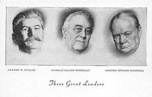 Stalin, Roosevelt, Churchill Churchill Unused