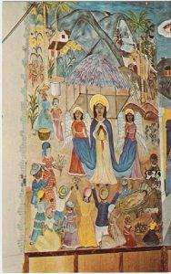 PORT AU PRINCE Haiti - Holy Trinity Cathedral NATIVITY MURAL - portion 1950s