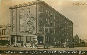 OK, Lawton, Oklahoma, Midland Hotel, Bates, RPPC