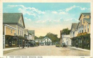 Autos BRIDGTON MAINE 1926 Pondi Cherry Square Dickerman Teich postcard 4506