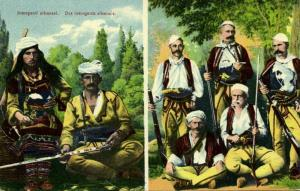 albania, Groups of Armed Albanian Insurgents (1910s) Balkan War Postcard