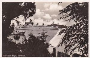 Bermuda View From Paget Showing Steamer