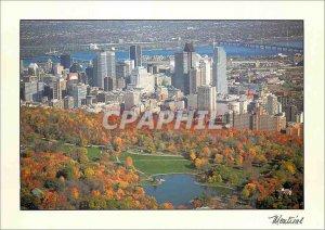 Postcard Modern Montreal Beaver Lake on Mount Royal and City Center