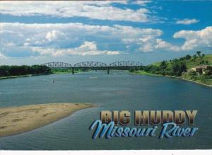 Bridge Over Big Muddy The Missouri River Largest Tributary Of The Mississippi...