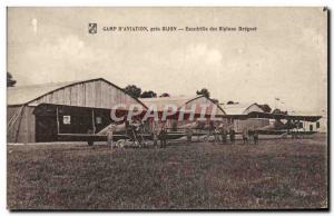 Old Postcard Jet Camp & # 39Aviation near Dijon Squadron biplanes Breguet