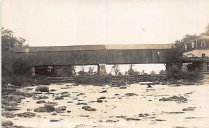 Farmington Falls ME Covered Bridge RPPC Postcard