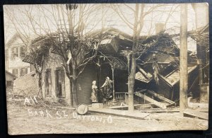 1913 Dayton OH USA RPPC Postcard Cover All Bank Street During The Flood