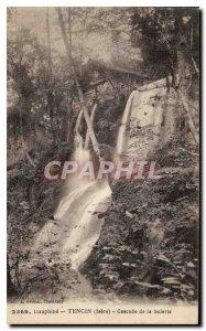 Old Postcard Dauphine Tencin Isere Scierie Cascade