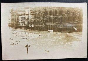 Mint USA RPPC Postcard Dayton Ohio Main & Second Street During Flood