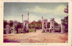 pre-1907 ENTRANCE TO KRUG PARK, ST. JOSEPH, MO. 1907