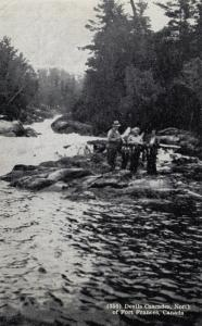 Devils Cascade, North of FORT FRANCES , Ontario , Canada , 1930s