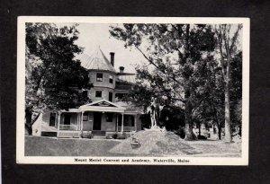ME Mt Merici Convent Academy Ursuline Sisters Nuns Waterville Maine Postcard