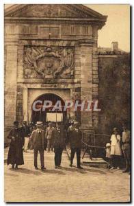 Postcard Old Steam Bagnard Ile de Re Saint Martin de Re Gate Depart prison d ...