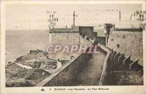 Old Postcard St Malo Ramparts The Tower Bidouane