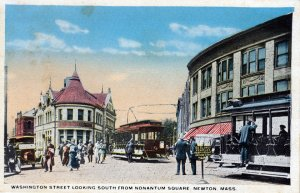 [ Linen ] US Massachusetts Newton - Washington Street Looking South