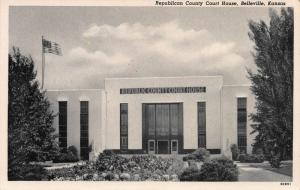 Republican County Court House, Belleville, Kansas, Early Postcard, Unused