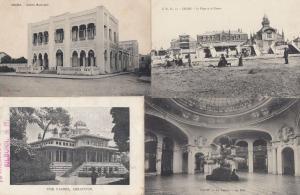Areachon Sousse Vichy Calais 4x Antique French Casino Postcard s